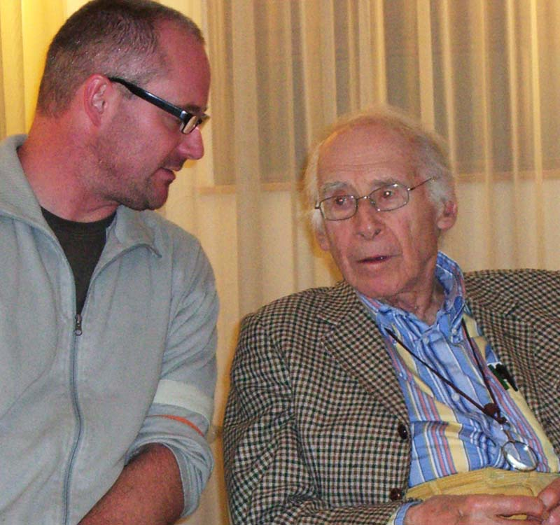 Henry Krotoschin und Rolf Iven im Gespräch