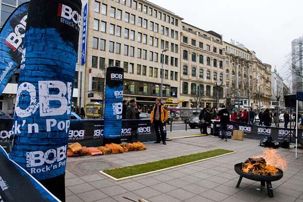 Feuerlauf Event Radio BOB Frankfurt Roßmarkt