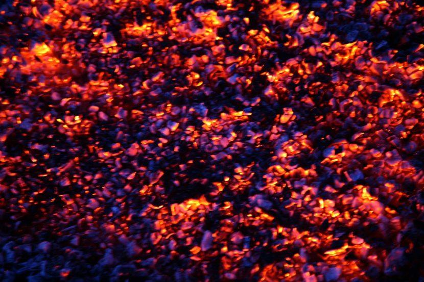 Glutteppich für Feuerlauf