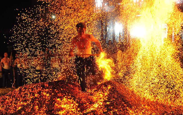 Feuerlauf in China