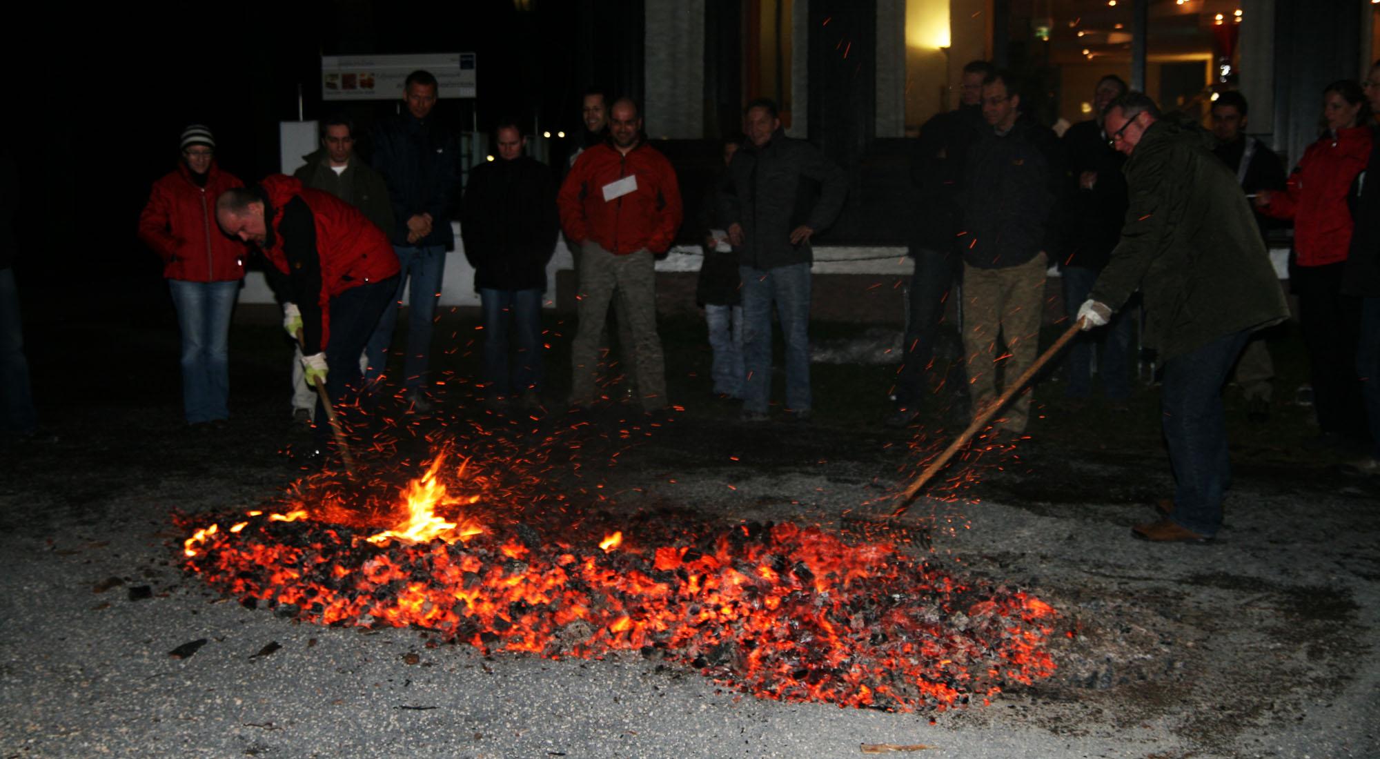 Glutteppich für Feuerlauf Event in Bad Neuenahr